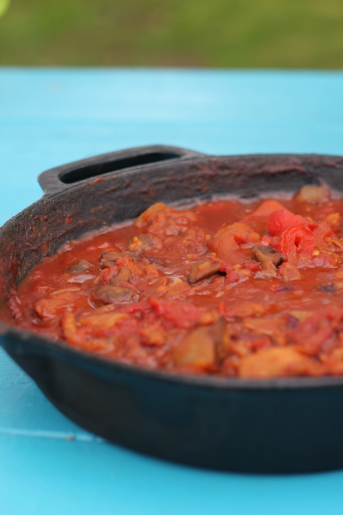 Camping Food - Twisted Skillet Chili | www.purplehousecafe.com