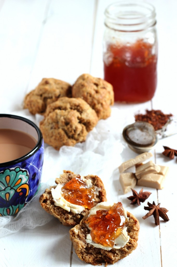 White Chocolate Star Anise Biscuits with Vanilla Rooibos Jelly | www.purplehousecafe.com