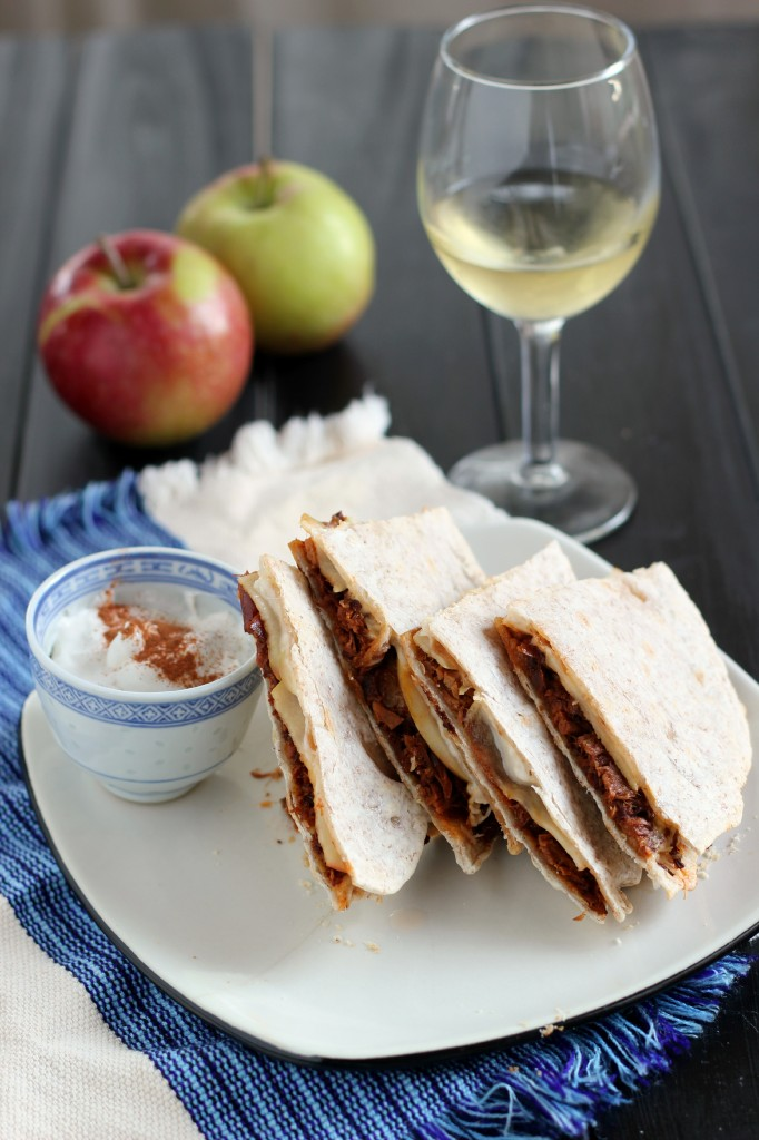 Pulled Pork & Apple Quesadilla | www.purplehousecafe.com