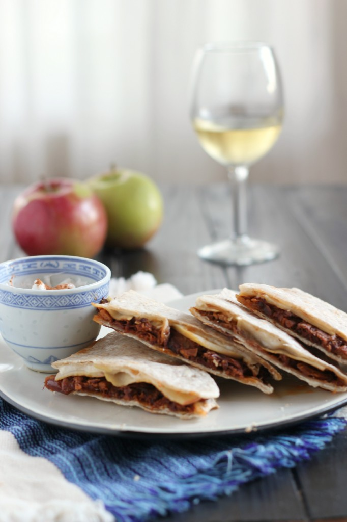 Pulled Pork & Apple Quesadillas | www.purplehousecafe.com