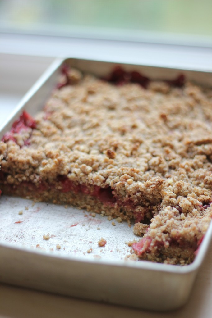 Strawberry Crumble Bars | www.purplehousecafe.com