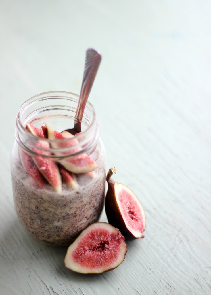 Fig & Maple Overnight Oats | www.purplehousecafe.com