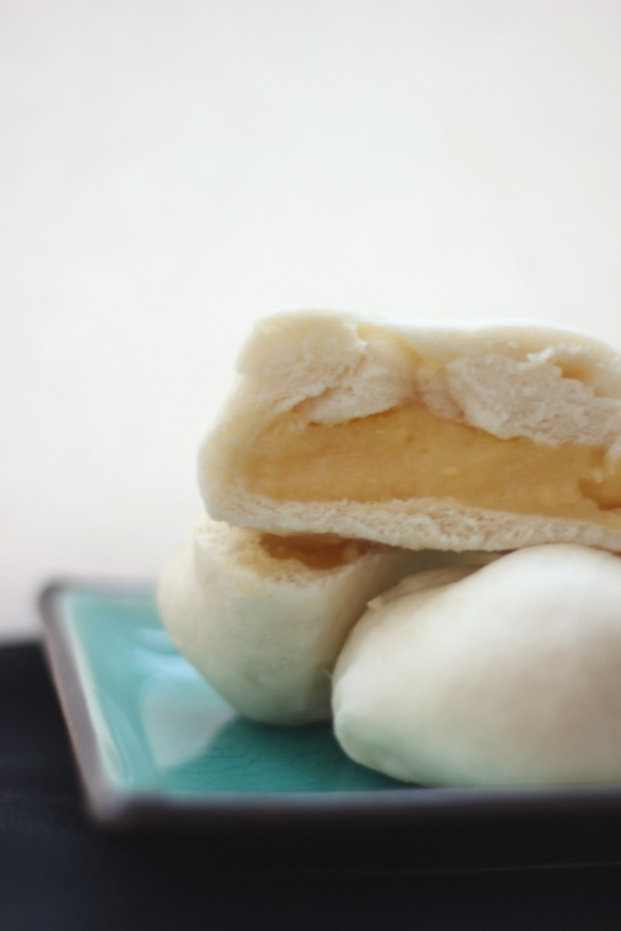 Pomelo Steamed Custard Bun | www.purplehousecafe.com