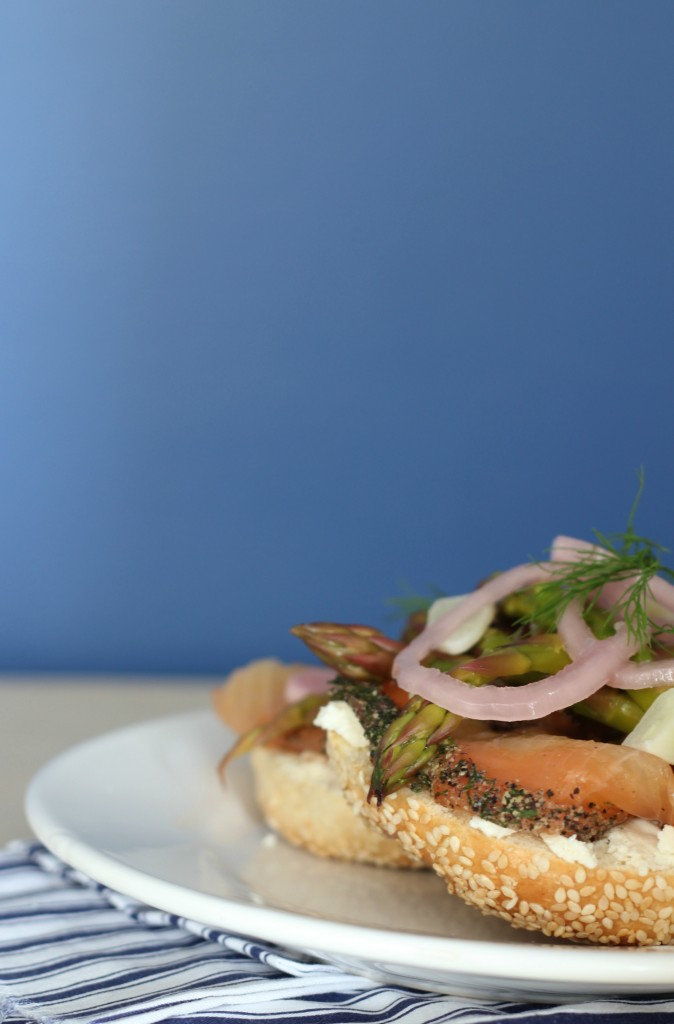 Open-face Smoked Salmon Sandwich | www.purplehousecafe.com